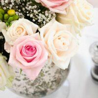 Feenzelt Winter Dekoration Hochzeit Innen Blumen