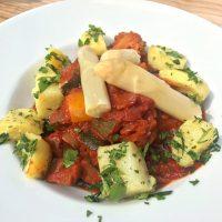 Spargelratatouille (vegan)