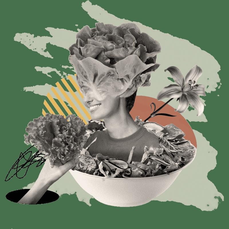 Collage - Salatmensch